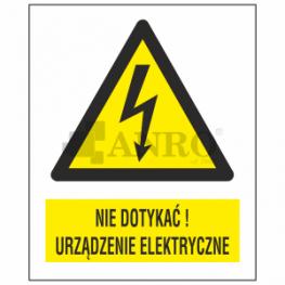 ZNAKI ELEKTRYCZNE OSTRZEGAWCZE PN-88/E-08501