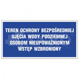 TABLICE INFORMACYJNE-TEREN OCHRONY UJĘĆ WODY