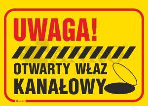 Uwaga_Otwarty_wlaz_kanalowy